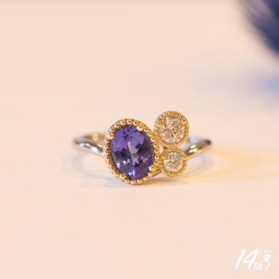 タンザナイト指輪